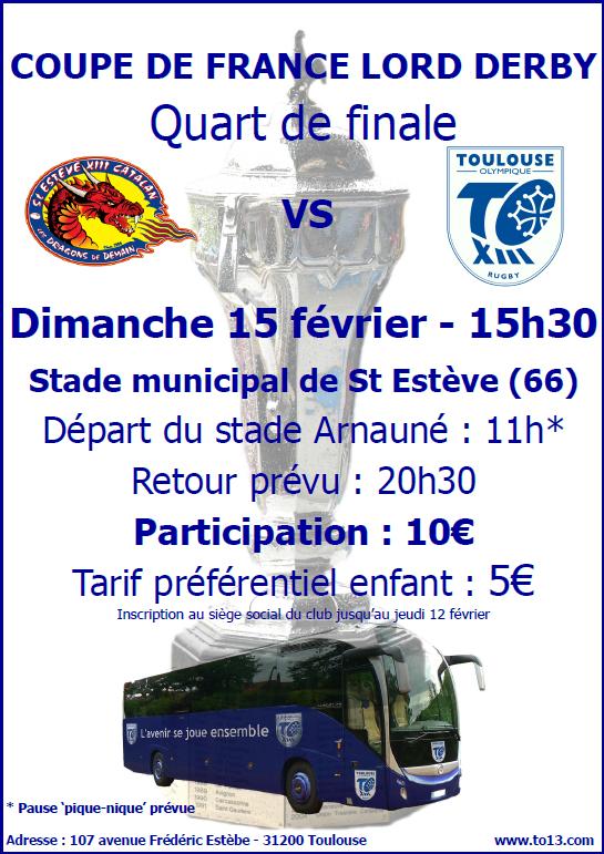 affiche bus quart St EstèveXIII Catalan vs TO