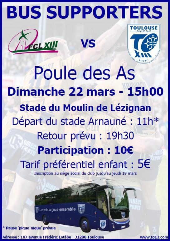 Affiche bus FC Lézignan vs TO
