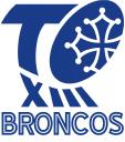 Logo Toulouse Olympique Broncos Bleu