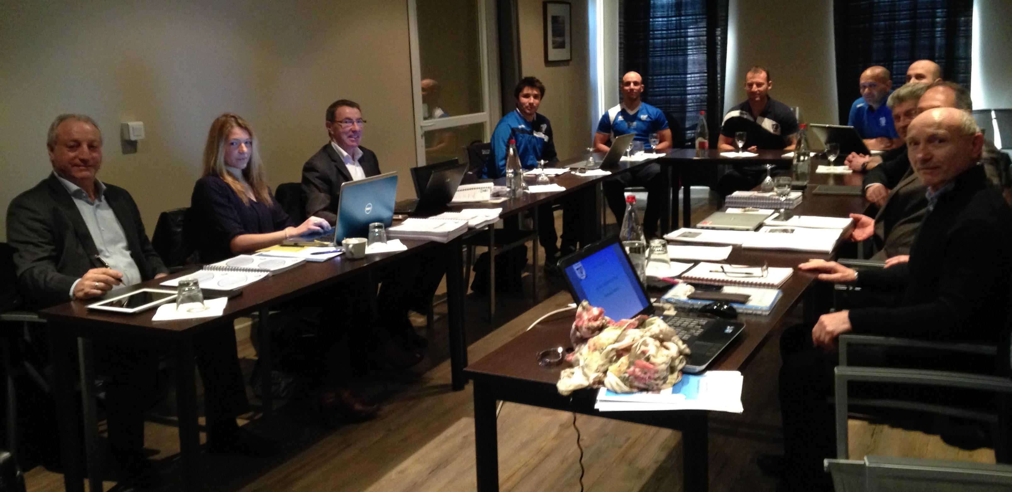 Une assemblée studieuse réunie pour le renouvellement du Centre de Formation du TO XIII - Crédit TO XIII