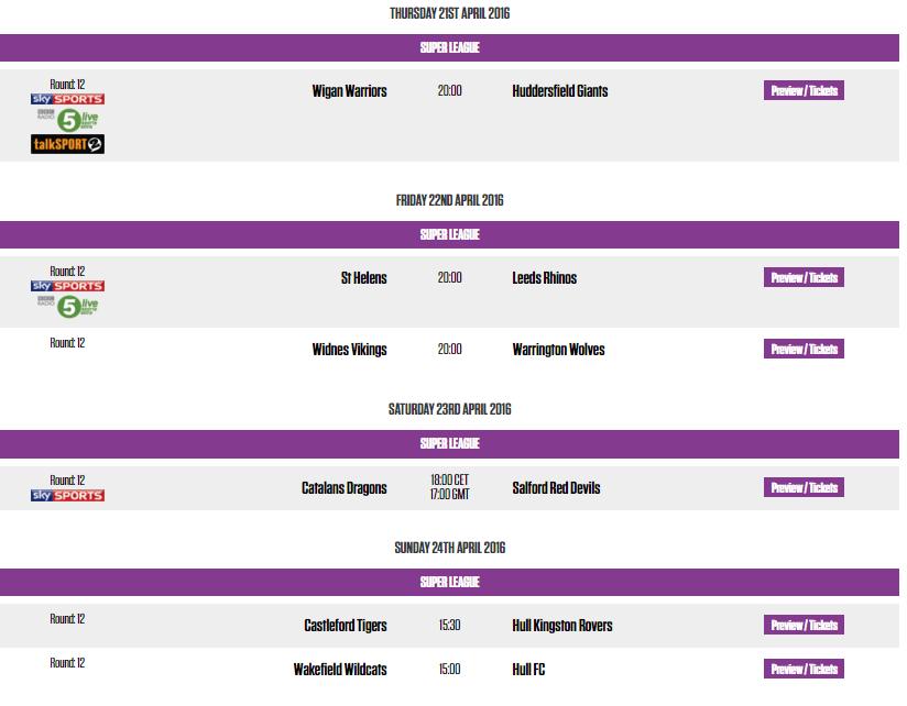 Round 12 - Super League