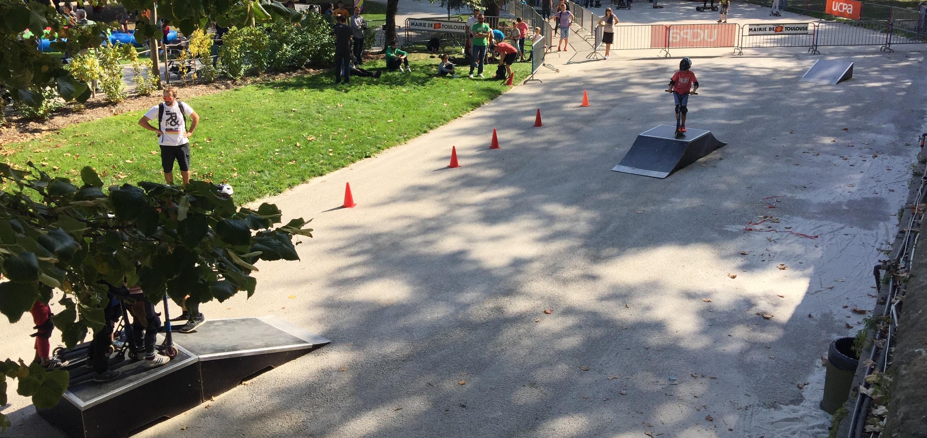 Un skatepark sera installé aux abords de la pelouse Ernest Argelès à l'occasion du match TO vs York - Crédit photo UCPA