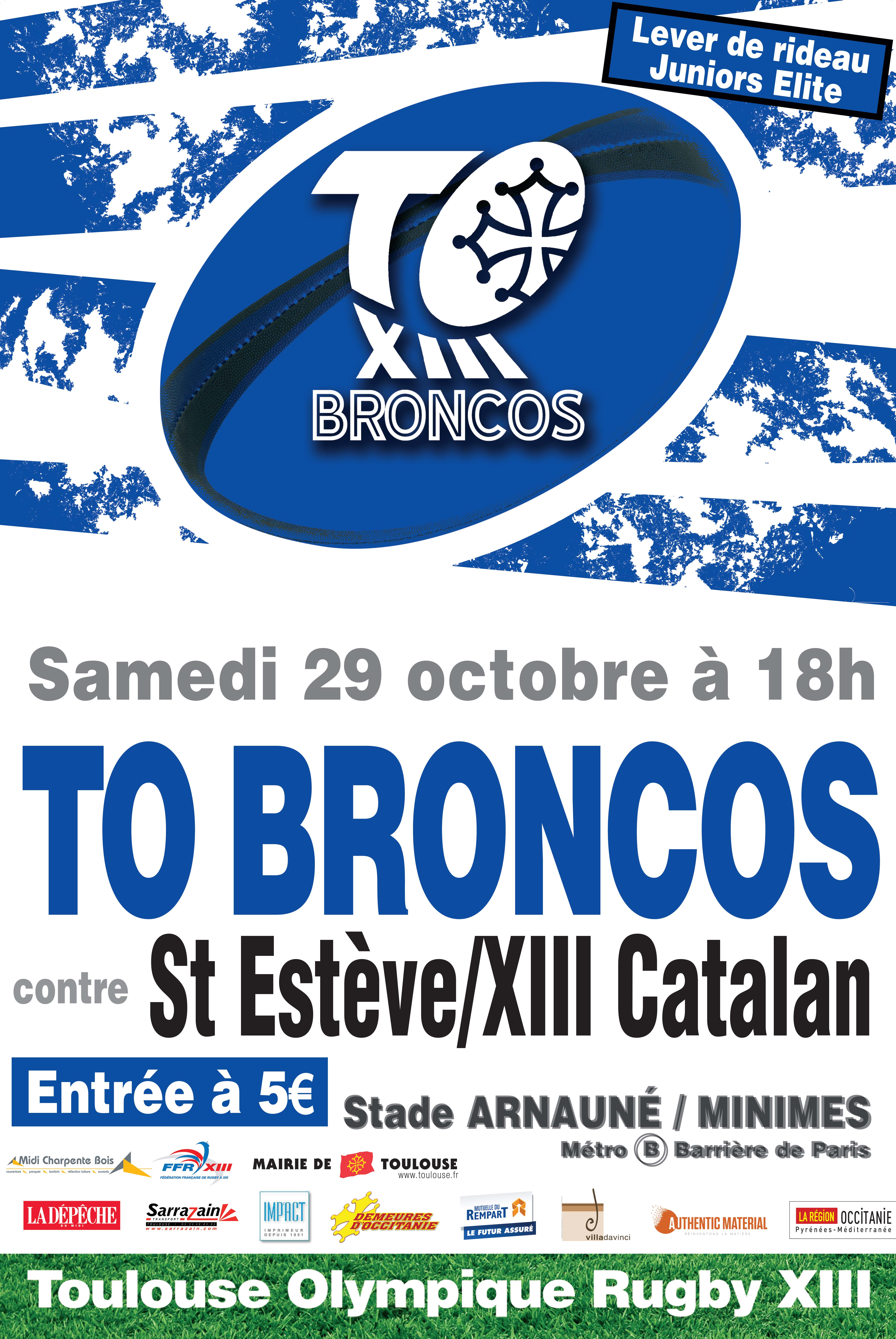 Affiche A3 TO Broncos 2016-2017