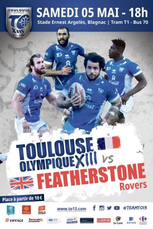 Affiche TO XIII v Featherstone 05.05.2018