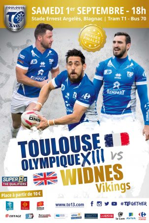 TO XIII v Widnes affiche portrait BD 01.09.2018